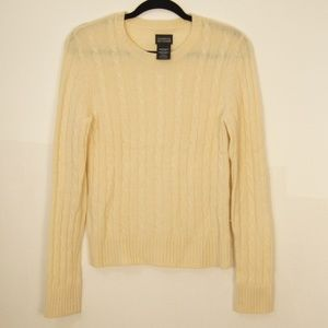 George 100% Cashmere Off White Sweater M 8/10